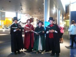 Caroling in the Newseum