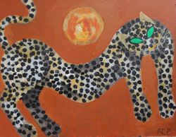 Young leopard and the morning sun, 1995