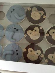 Monkey & Elephant Cupcakes