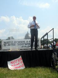 Congressman Steny Hoyer at the Rally at 2015 NCIL Conference