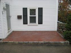New brick walkway