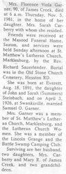 Garner, Florence Steinbach 1981