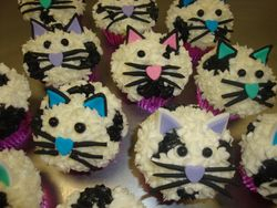 cat face cupcakes $4.50 each