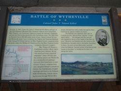 Battle of Wytheville - Col. John T. Toland Killed