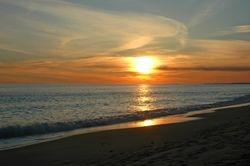 Golden Sunset at South Beach