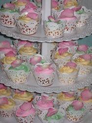 Sugared Rose Petal Cupcakes