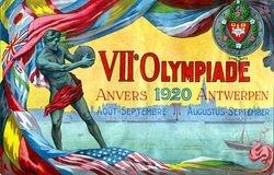 Scarce `VII Olympiade banner`