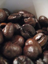 Mexican Coffee beans ready for espresso