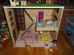 Battat Wooden Loft to Love Wooden Dollhouse with Furniture & People - $75