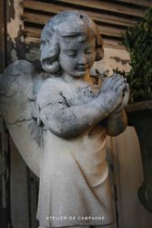 SOLD #19232 White Stone Angel SOLD