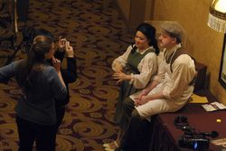 Interview backstage during Albert Herring with my wonderful colleague Zach Coates (as Emmie & Sid)