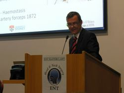 Prof Carsten Palme from Sydney talks about parotid surgery