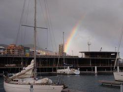 Rainbow of the marina in Santa Cruz
