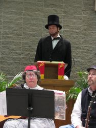 Lincoln recites Second Inaugural Address