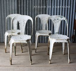#27/086 BELGIAN FIBROCIT CHAIRS WHITE