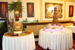 Chocolate fountain and fruit display Blott country club