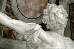 Bernini, St. Longinus, 1629-38, St. Peters, commissioned by Urban VIII