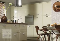 CROWN LIFESTYLE GENOA OYSTER (PALE CREAM) GLOSS KITCHEN