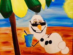 Olaf Sipping in the Sun