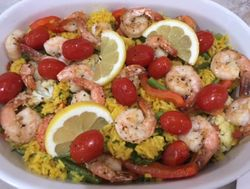 Shrimp Paella with Yellow Rice