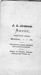J. L. Gurrad, photographer, Mendota, IL - back