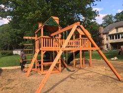 Gorilla playsets wilderness assembly in fairfax Virginia