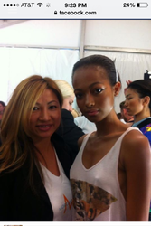 With Model for NYC Fashion Week