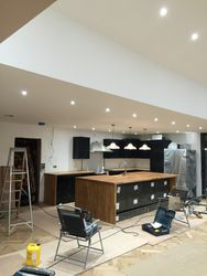 LED Downlights Kitchen rewires