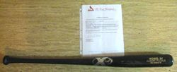 Albert Pujols 2004 Game Used Black X Bat With Cardinals Papers