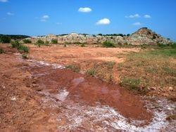 Dry creekbed, gyp hills