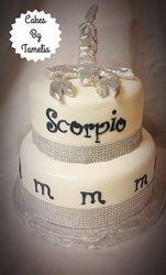 "scorpio ""s cake with fondant scorpion"