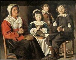 Le Nain, Benediction, 1630-50, Pittsburgh (Frick)