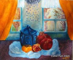 Still life with Chinese lantern