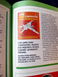 Title Information in My Review of Star Wars Rebel Starfighters: Alliance and Resistance Models (Owners? Workshop Manual) in Starburst Magazine #468: 2020 Preview Issue Collectors? Edition