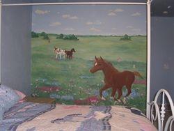 field of ponies