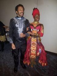 T'challa and Wakandan Dance Partner
