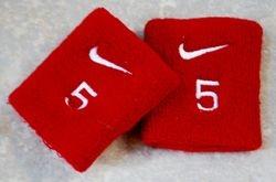 St. Louis Cardinals Game Used Worn Wrist Bands - Albert Pujols
