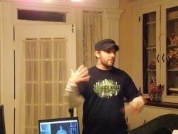Gary speaks with his hands like a ninja