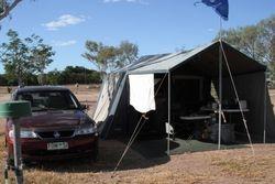 Tom's Campsite at Longreach Caravan Park