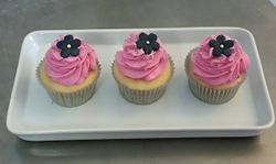 Pink and Navy Cupcakes