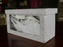 This box is made out of the elephant dung paper