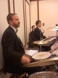 Gershon on drums