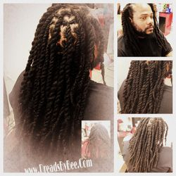 Natural Dreads Repaired and Maintained by Bee