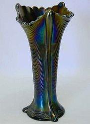 "Drapery 8 1/2"" vase - purple"