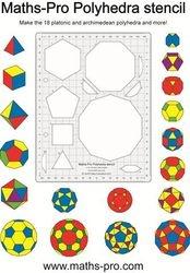 Maths-Pro Polyhedra stencil