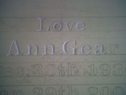 Hand cut letters