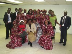 Group of Choirs the Sudanese Community Church of Toronto.