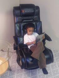 Genius working the I-Pad
