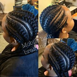 Large Feed- in Cornrows completed in College park, MD