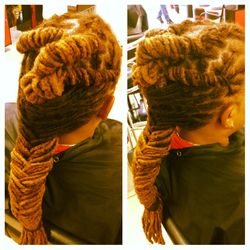Dreads washed and Styled at Braids by Bee Inc.